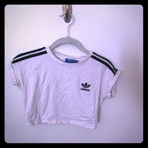 Black and White Adidas Crop Top